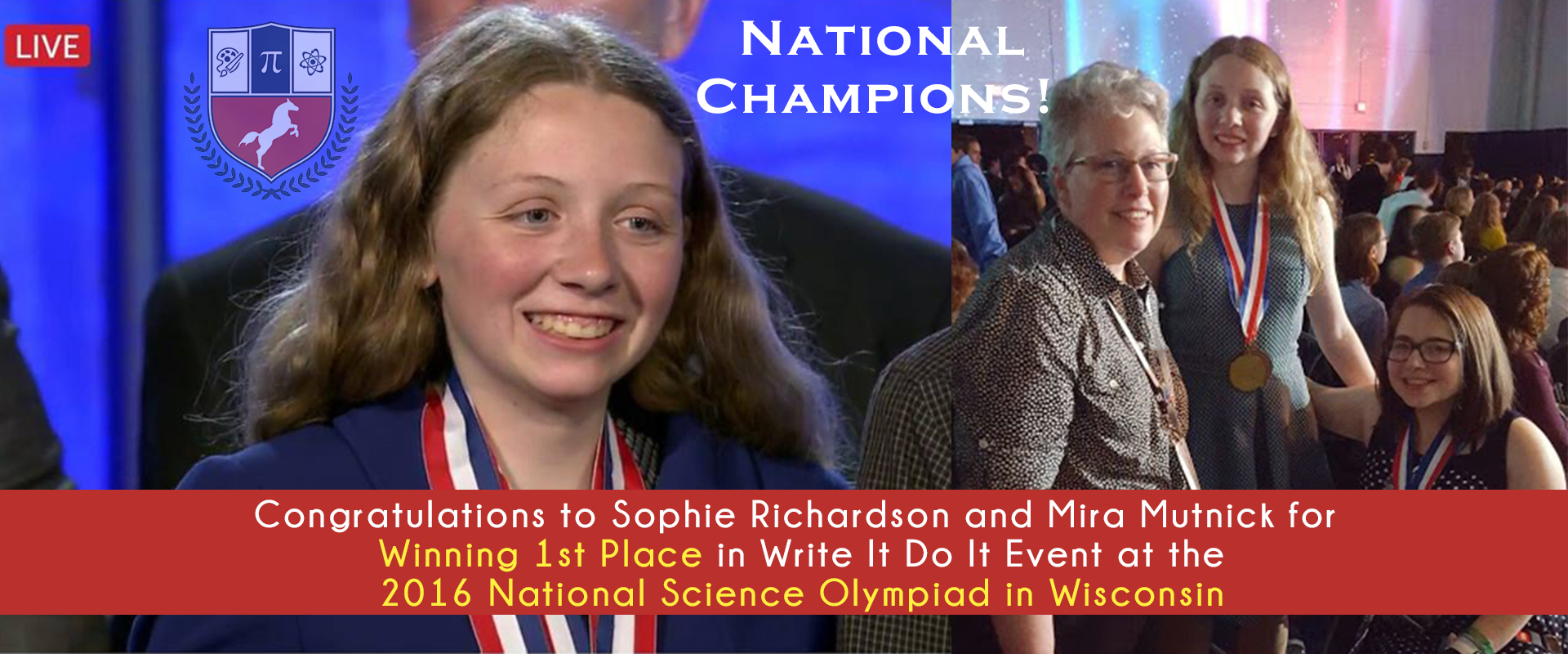 Fulton Science Academy Private School Science Olympiad National Champion