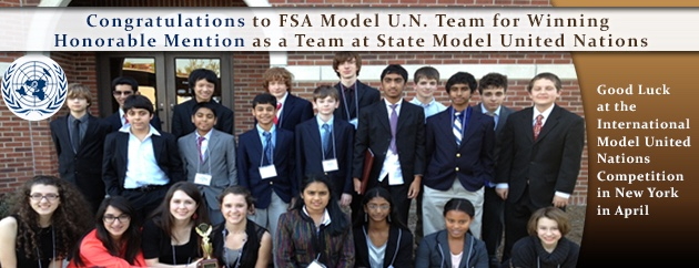 fulton science academy model united nations award