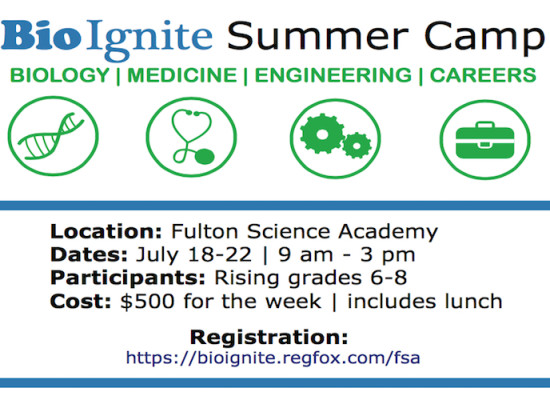 2016 BioIgnite Summer Camp: Biology, Medicine, Engineering, Careers
