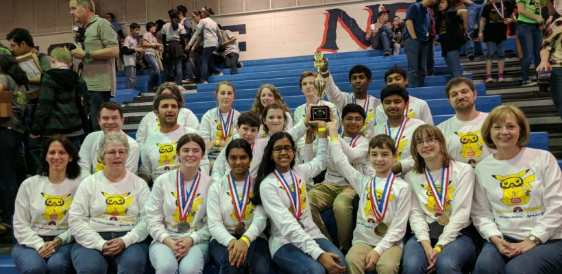 Science Olympiad Team Attended National Science Olympiad Three Years in a Row!