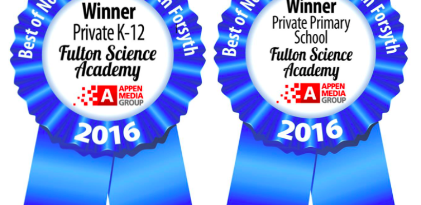 "Fulton Science Academy Won 2016 Appen Media ""Best of the Best"" Private School Awards"