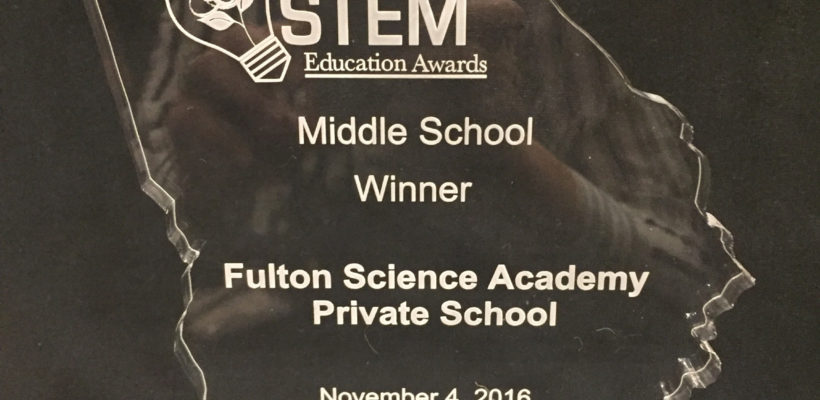 Fulton Science Academy STEM  Education Award