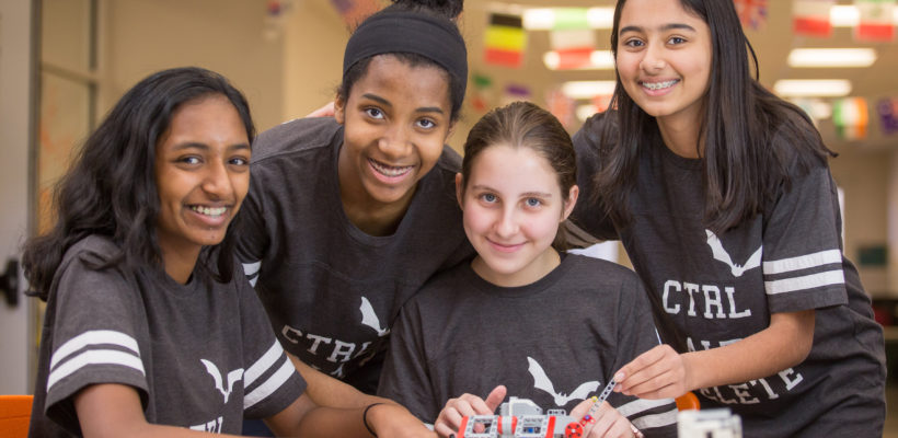 Fulton Science Academy's All-Female Robotics Team Prepare for UK Competition