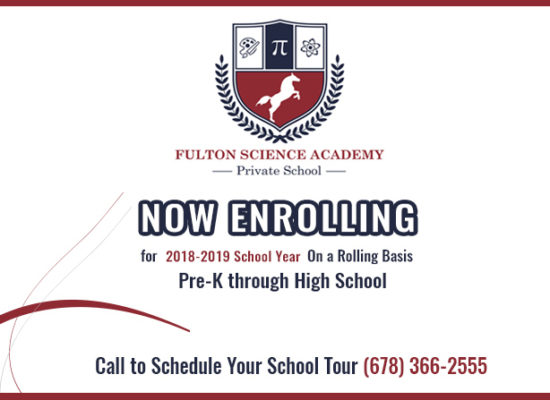 Now Enrolling for 2018 – 2019 School Year